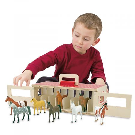Personalized Take-Along Show Horse Stable by Melissa & Doug®