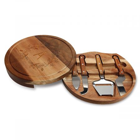 Personalized Acacia Cheese Board Set