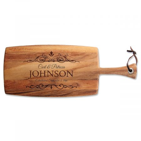 Personalized Established Paddle Cutting Board