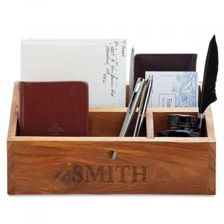 Personalized Wooden Organizer