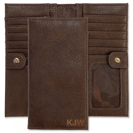 Personalized Brown Wallet