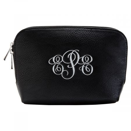 Personalized Black Cosmetic Bag