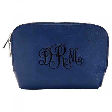 Personalized Navy Cosmetic Bag