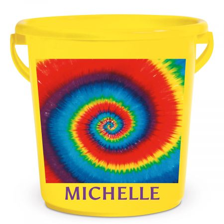 Personalized Kids Beach Bucket - Tie Dye