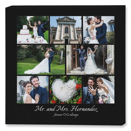 Mr. & Mrs. Collage Photo Canvas