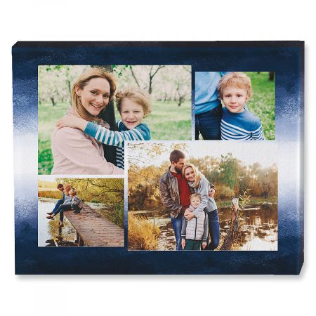 Gradient Blue Collage Photo Canvas