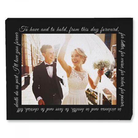 Wedding Vows Photo Canvas