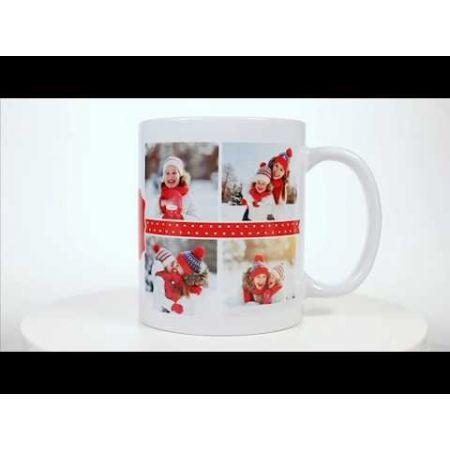 Polka Dot Ceramic Photo Mug