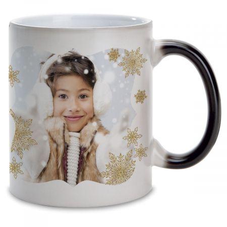 Snowflake Ceramic Photo Mug