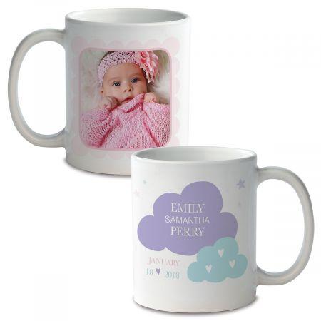 Baby Girl Personalized Photo Mug