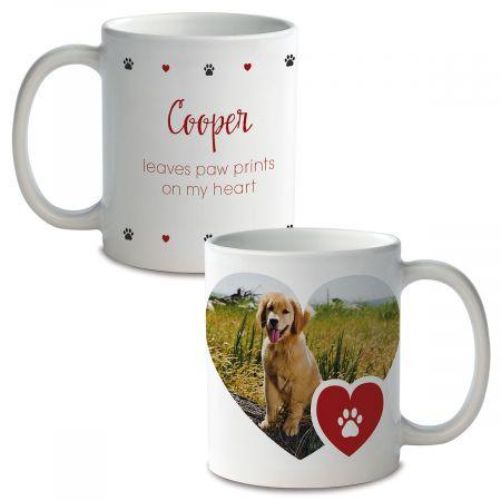 Paw Print Ceramic Photo Mug