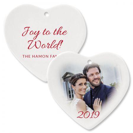Joy Photo Ornament – Heart