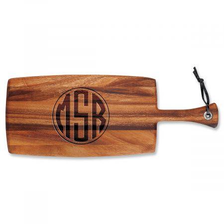 Personalized Monogram Circle Paddle Cutting Board