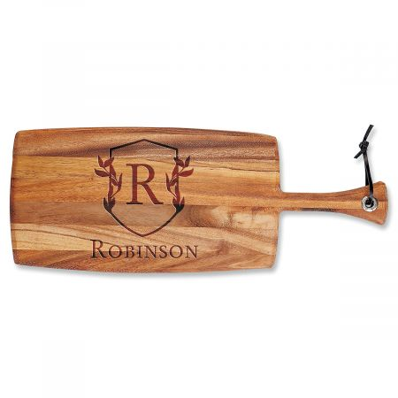 Personalized Scholar Crest Paddle Cutting Board