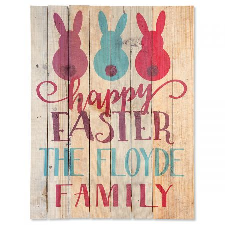 Personalized Happy Easter Plaque