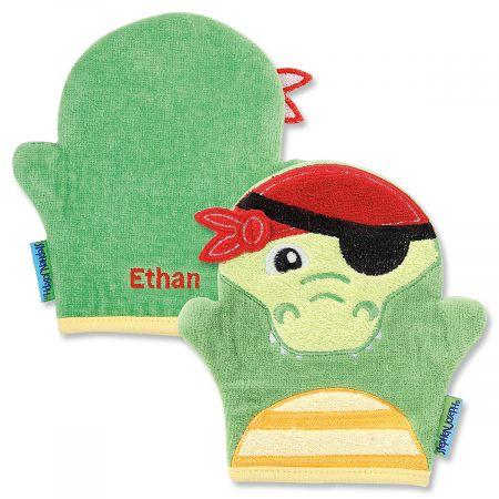 Personalized Alligator Bath Mitt by Stephen Joseph®