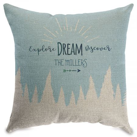 Explore Dream Personalized Pillow Natural
