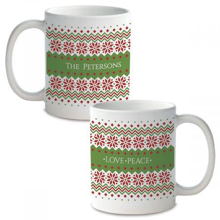 Sweater Pattern Personalized Ceramic Mug