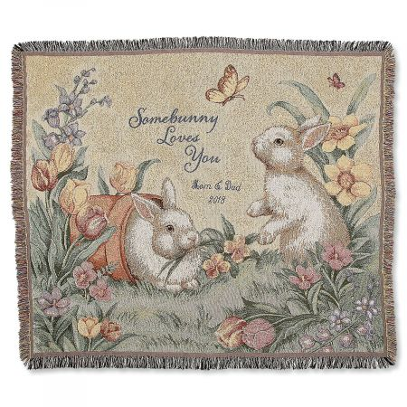Personalized Somebunny Loves You Throw