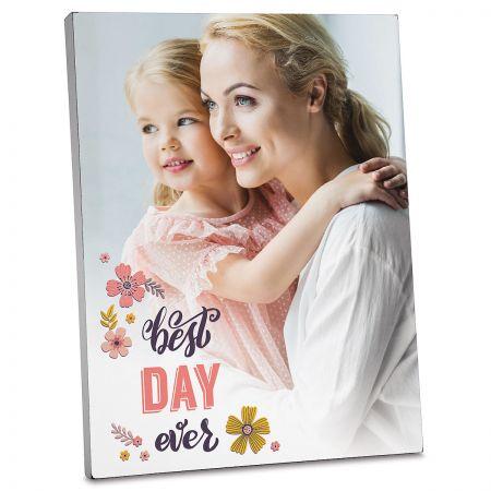 Floral Photo Plaque