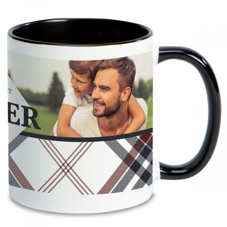 Plaid Ceramic Photo Mug