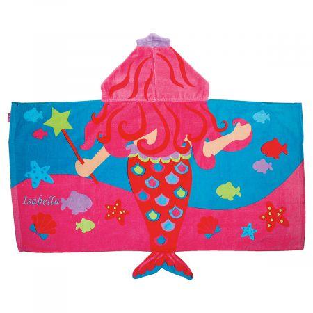 Personalized Hooded Mermaid Towel by Stephen Joseph®