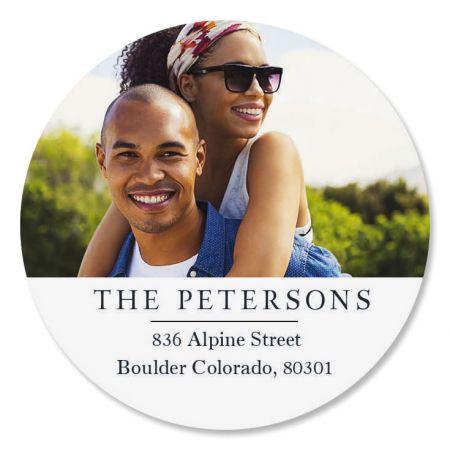 Classic Round Personalized Photo Address Label