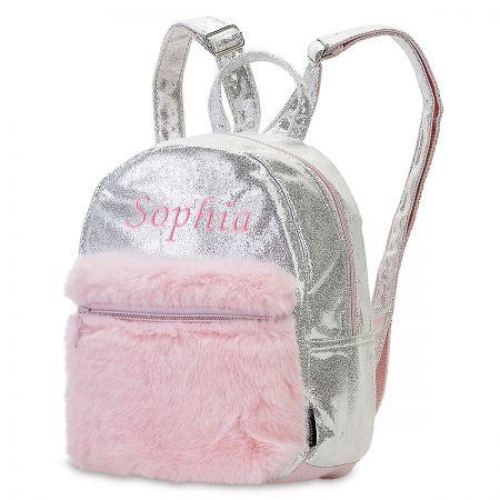 Mini Silver Shimmer Backpack