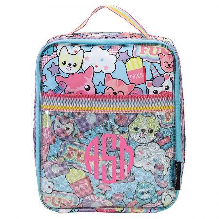 Personalized Clear Unicorn Emoji Fun Lunch Bag