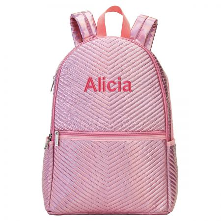 Personalized Pink Chevron Backpack