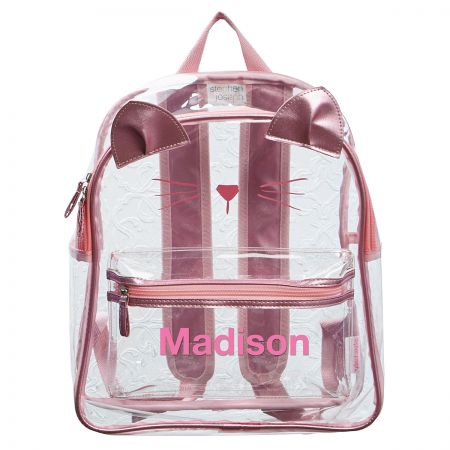 Personalized Cat Clear Backpack