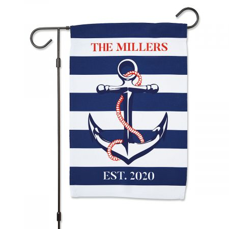 Personalized Anchor Garden Flag