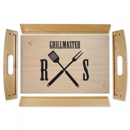 Grillmaster Natural Wood Serving Tray