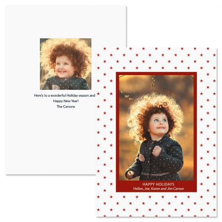Holiday Stars Personalized Photo Christmas Cards
