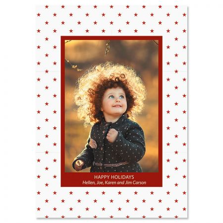 Holiday Stars Photo Christmas Cards