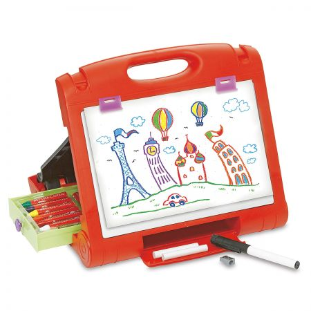 Personalized Travel Easel in use