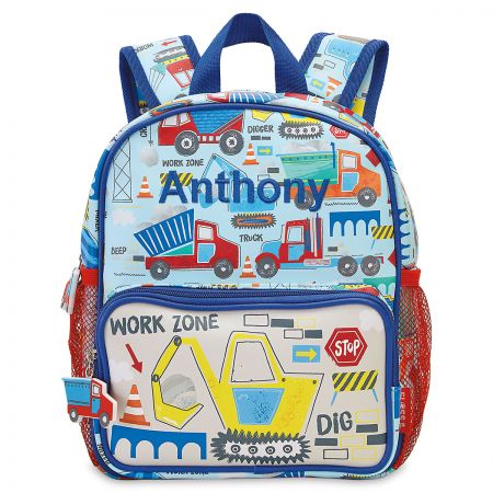 Personalized Construction Drawstring Backpack