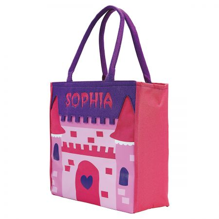 Castle Halloween tote angled
