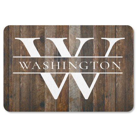 Personalized Wood-Grain Floor Mat
