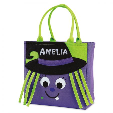 Wanda the witch Halloween tote front