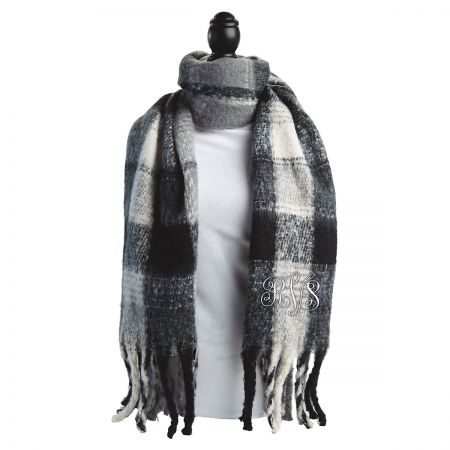 Personalized Oversized Plaid Scarves