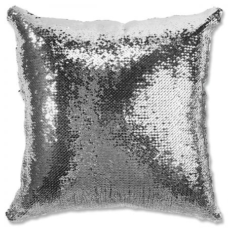 Sequined Holiday Reindeer Pillow turned