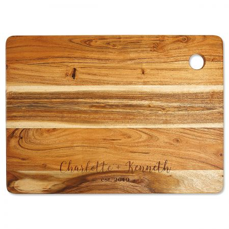 Acacia Personalized Large Cutting Board