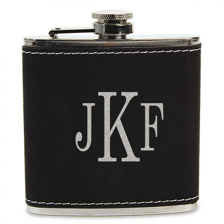 Personalized Black Flask