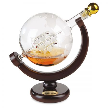 Personalized Globe Decanter