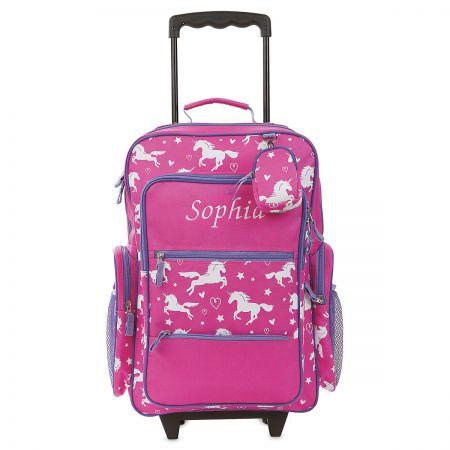 Unicorn Personalized Rolling Luggage