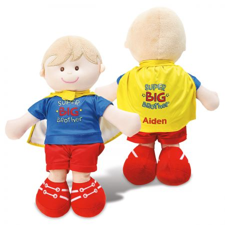 Personalized Big Sister & Brother Dolls