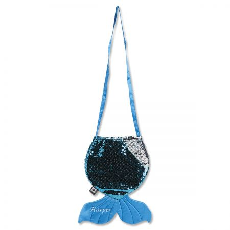 Personalized Mermaid Tail Sequin Bag