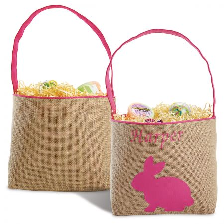 Personalized Burlap Easter Baskets