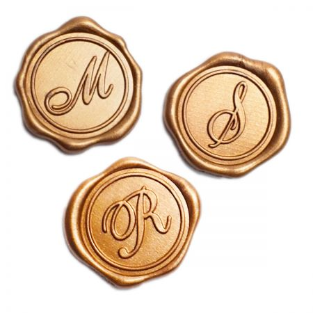 Initial Wax Seal - Gold